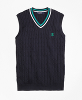 Brooks Brothers Supima® Cotton Cable Vest