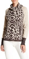 Cullen Animal Print Turtleneck Pullover
