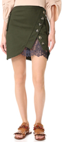 Self-Portrait Self Portrait Utility Miniskirt