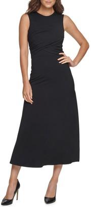 Donna Karan Crossover Mid-Length Dress