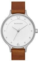 Skagen Women's 'Anita' Leather Strap Watch, 30Mm
