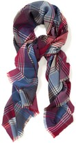 J.Mclaughlin Reese Wool Scarf in Plaid