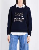 Markus Lupfer Sequin-embellished Shine Bright merino wool jumper