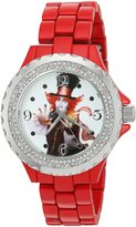 Disney Women's 'The Mad Hatter' Quartz Metal and Alloy Automatic Watch, Color: (Model: W003066)