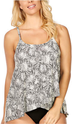 Island Escape Swimwear Cape Town Snake Printed Draped Underwire Tankini, Women Swimsuit