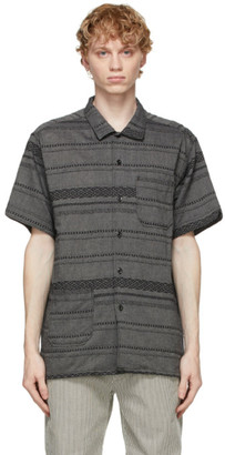 Engineered Garments Grey Striped Camp Shirt