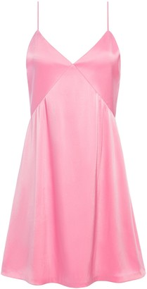Alice + Olivia Melinda Seamed Slip Mini Dress