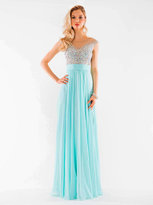 Colors Dress - 1112 Jeweled Illusion Chiffon Gown