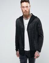Asos Knitted Hooded Cardigan in Sheer Yarn
