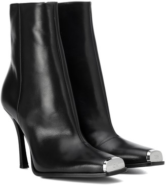 Calvin Klein Wilamiona leather ankle boots