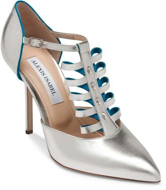 Alexis Isabel Alter Ego Champagne Leather Pumps
