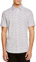 Sovereign Code Miguel Geo Short Sleeve Regular Fit Button Down Shirt