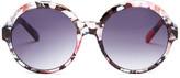 Steve Madden Women&s Plastic Round Sunglasses