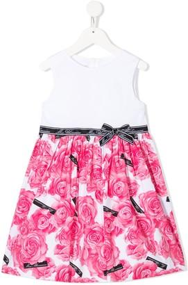 Miss Blumarine Floral Sleeveless Dress
