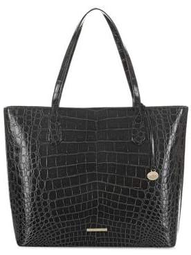 Brahmin Black Veil Misha Leather Tote