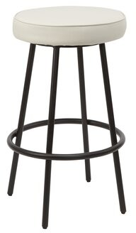 """Williston Forge Butters Bar & Counter Stool Upholstery: White, Seat Height: Bar Stool (29"""" Seat Height)"""