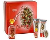 Ed Hardy Villain Women Gift Set (Eau de Parfum, Eau de Parfum, Lotion, Shower Gel, Tattoo Design) by