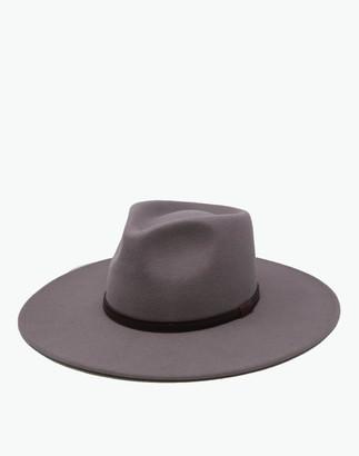 Madewell WYETH Wool Hunter Fedora Hat