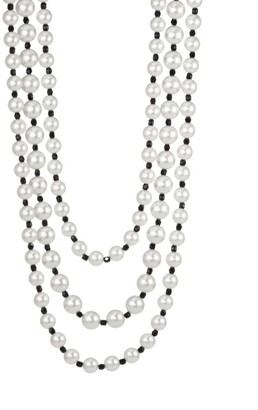 Kenneth Jay Lane Multirow Jet Bead Necklace