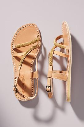 Laidback London Azari Slingback Sandals By Laidback London in Silver Size 7