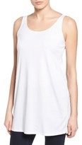 Eileen Fisher Women's Organic Cotton Jersey Long Tank