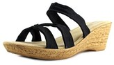 Easy Street Shoes Lauria Open Toe Canvas Wedge Sandal.