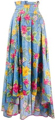 Ultràchic Floral Print Maxi Skirt