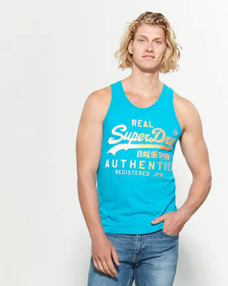 Superdry 3D Ombre Logo Muscle Tank