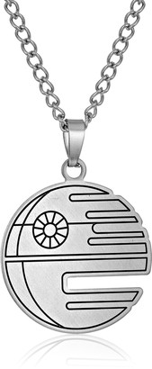 Star Wars Jewelry Death Stainless Steel Flat Cut Out Pendant Necklace 18""