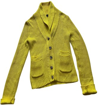 Theory Yellow Cotton Knitwear