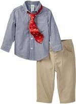 Little Me Mini Gingham Check Woven Pant Set (Baby Boys)