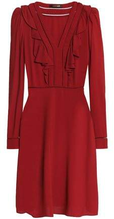 Roberto Cavalli Ruffle-Trimmed Crepe Dress