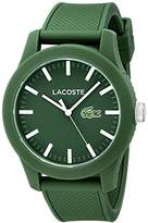 Lacoste Men's 2010763 Lacoste.12.12 Green Resin Watch with Silicone Band