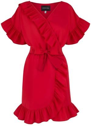 Monica Nera Juliette Red Ruffle Dress