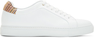 Paul Smith White Signature Stripe Basso Sneakers