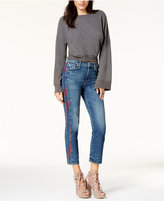 Hudson Zoeey Piping-Trim Ankle Jeans