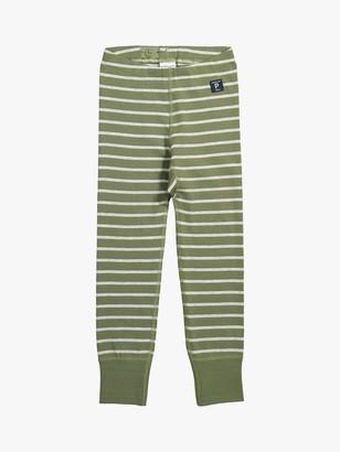 Polarn O. Pyret Children's GOTS Organic Cotton Stripe Leggings
