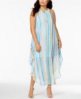 Love Squared Trendy Plus Size Necklace Maxi Dress