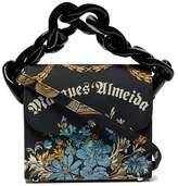 Marques Almeida Marques'almeida Black chain floral jacquard box bag