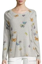 Joie Eloisa Butterfly-Print Cashmere Sweater