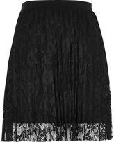 River Island Womens Black pleated lace mini skirt