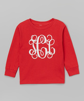Swag Red & White Monogram Tee - Toddler & Girls
