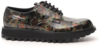 Dolce & Gabbana Printed Derby Lace-Up Shoes