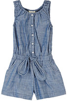 Anthem of the Ants CHAMBRAY ROMPER-BLUE SIZE 5