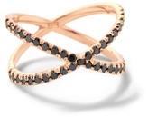 Eva Fehren Shorty Ring with Black Diamonds