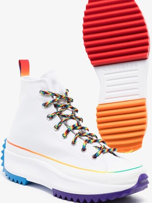 Converse White Run Star Hike High Top Sneakers