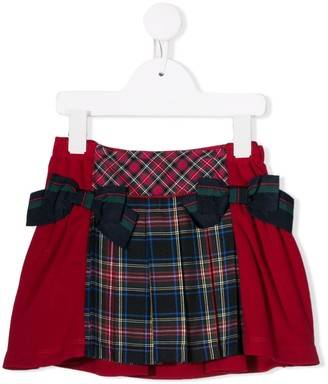 Lapin House Tartan And Bow Detail Skirt