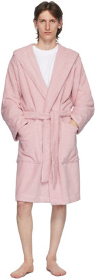 Tekla Pink Hooded Bathrobe