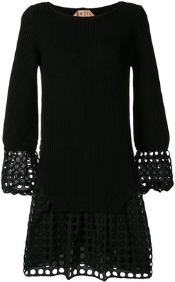 No.21 Laser Cut Sweater Dress