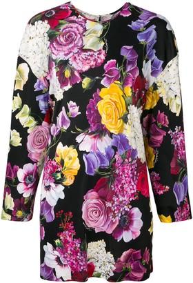Dolce & Gabbana Floral Long-Sleeve Blouse